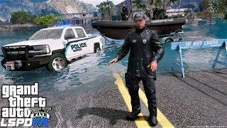 GTA 5 LSPDFR Police Patrol #689 Mandatory Evacuations Due To Storm Flooding