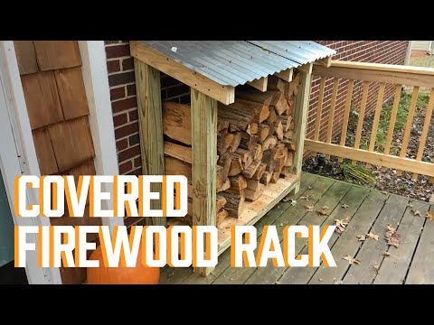 DIY Covered Firewood Rack