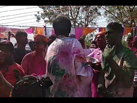 CHARWAS HOLI FESTIVAL RAIN DANCE AND PLAY HOLI WITH HERBAL GULAL ROSE FLOWER
