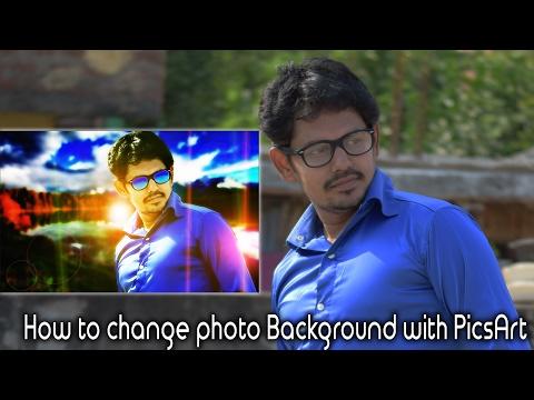 How to change photo Background with PicsArt || Telugu || Tech-Logic