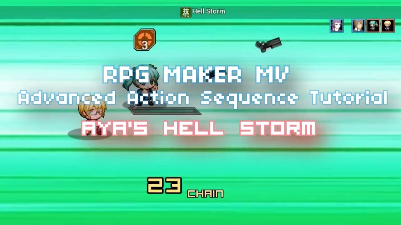 RPG MAKER MV: Advanced Action Sequence Tutorial/Tips - `Hell Storm`