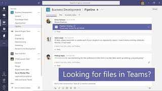 How to find and filter files in Microsoft Teams