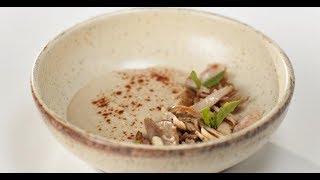 Салат из печёной свёклы и копчёная курица с пюре из корня сельдерея | Маргарита и мастера