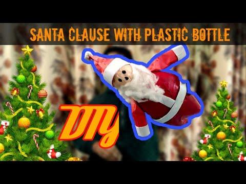 How to make Santa Claus W/ Bottle & Cotton Easily | DIY Christmas Children |  India
