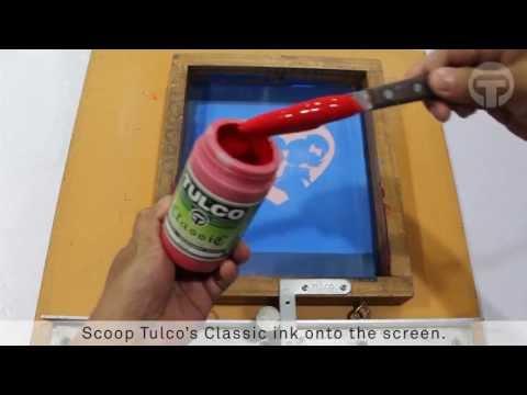 TULCO Classic Textile Ink: Basic Screen Printing Tutorial