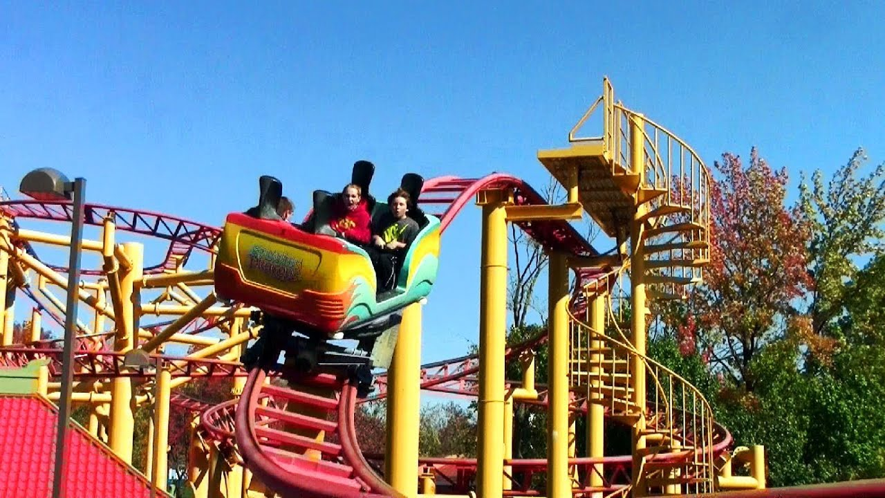 Spinning Dragons spinning dragons off-ride hd worlds of fun - youtube