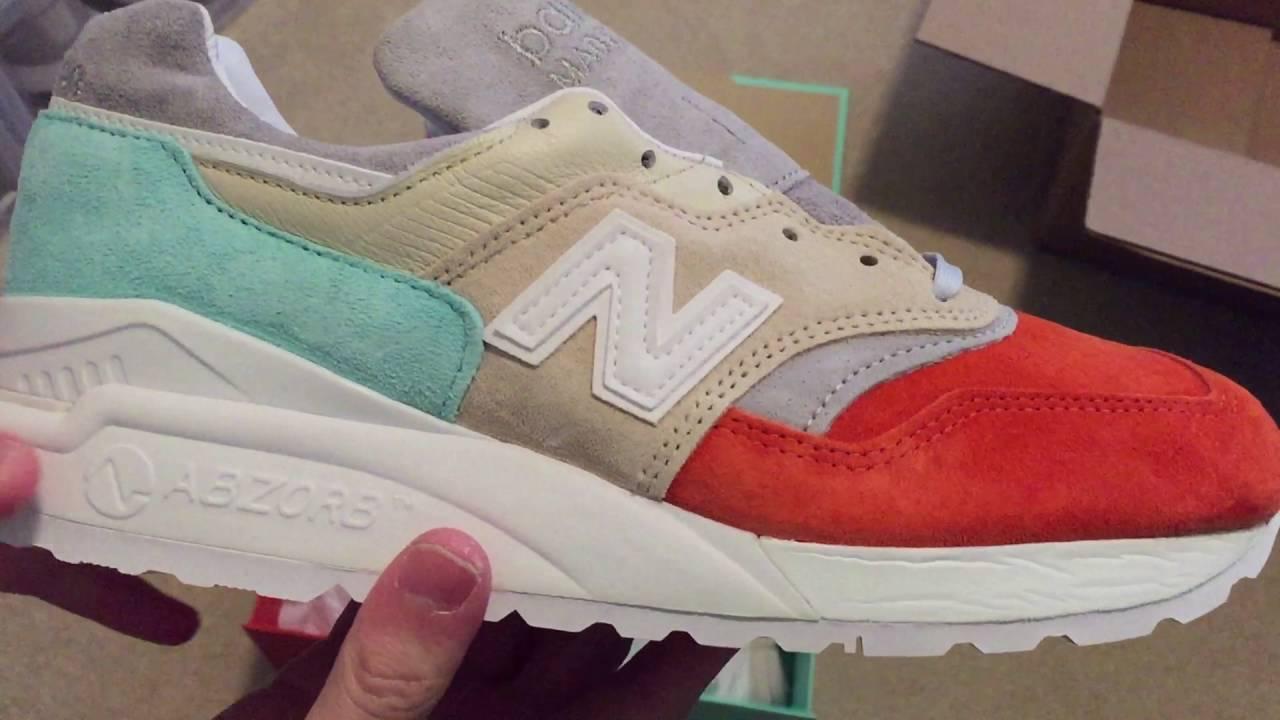sports shoes af528 7c6ef Ronnie Fieg x New Balance 997.5 Mykonos Cyclades Sneaker Unboxing