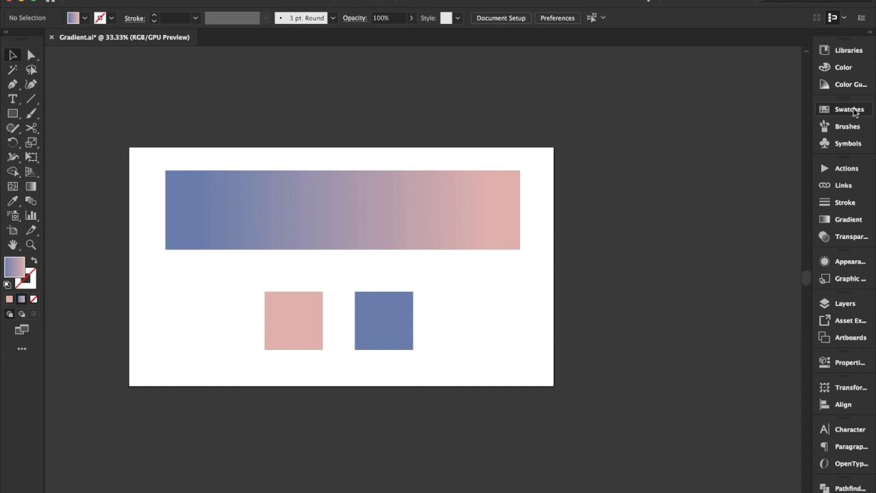 Thành thạo công cụ Gradient trong Adobe Illustrator CC 2019