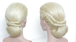 Easy Low Bun Hairstyle For Party. Hair Tutorial