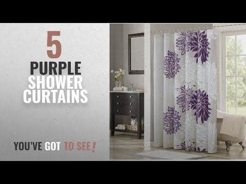 Top 10 Purple Shower Curtains [2018]: Comfort Spaces – Enya Shower Curtain – Purple, Grey –