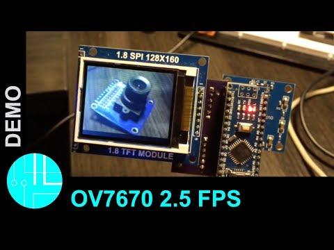 OV7670 live image with Arduino (2.5 frames per second)