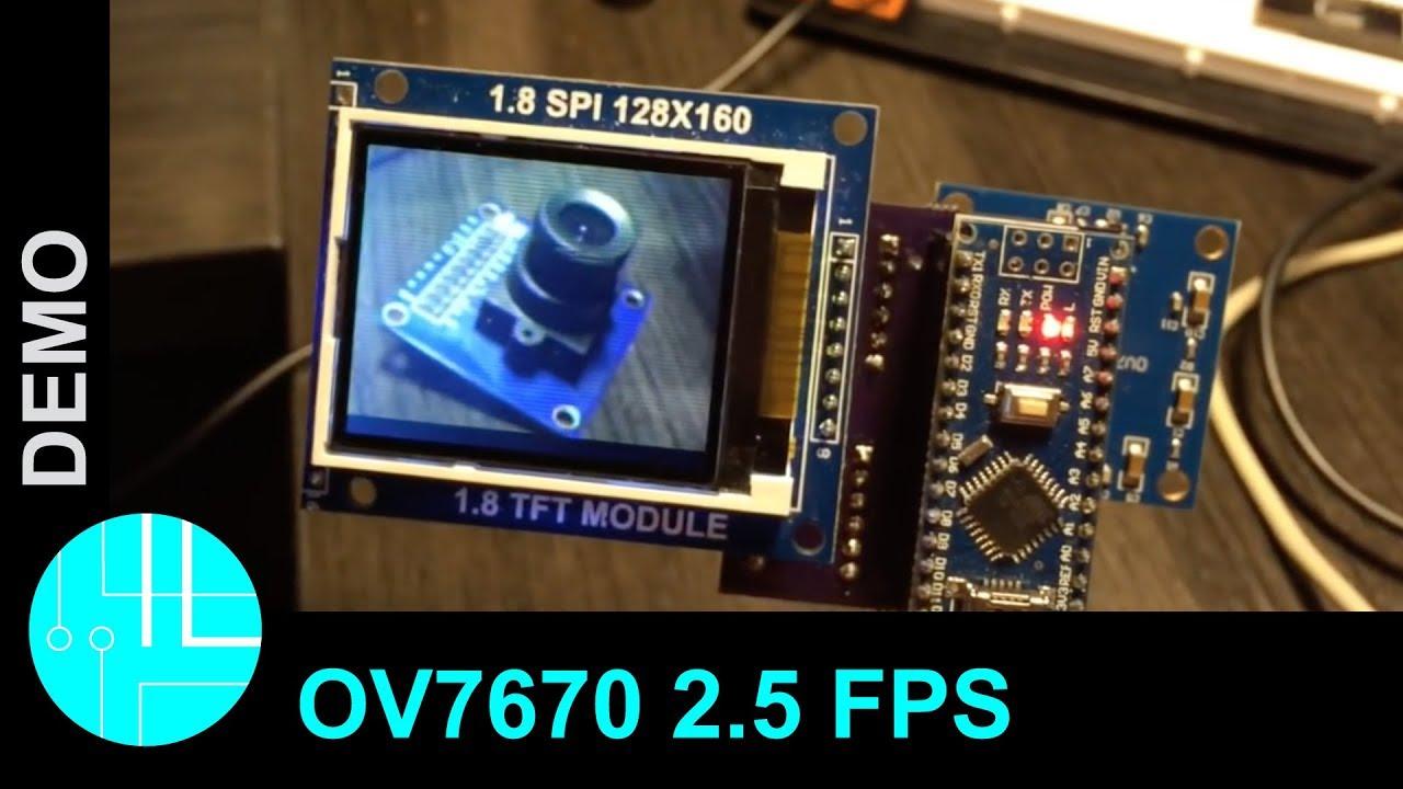 Ov7670 Live Image With Arduino 2 5 Frames Per Second