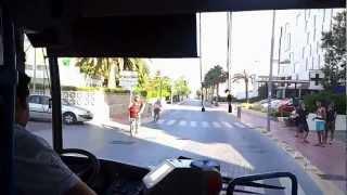 Isle Mallorca busses 15 and L351 ride in Palma and Alcudia