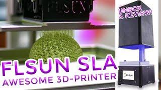 ✔ FLSUN SLA/DLP Completely AWESOME Liquid Resin 3D-Printer | Unbox & Review!