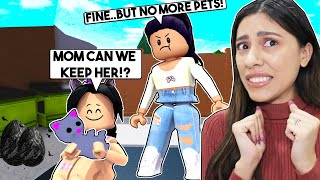 WE FOUND an ABANDONED KITTEN so WE ADOPTED HER! - Roblox Bloxburg