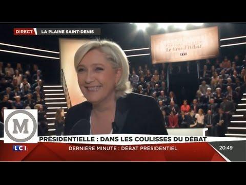 Marine Le Pen Mélenchon Fillon Macron Ambiance Tendue avant-débat Présidentiel 20.03.2017