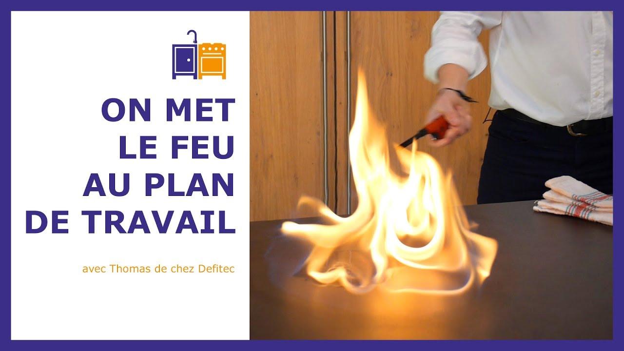 Plan De Travail Quartz Resistance Chaleur ce plan de travail en dekton pour votre cuisine ne craint pas la chaleur.  la preuve en images !