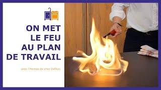 Ce plan de travail en DEKTON pour votre cuisine ne craint pas la chaleur. La preuve en images !