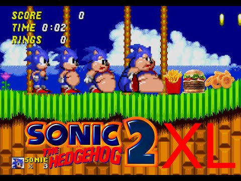 Sonic 2 XL (Rom Hack Gameplay) [HD 60FPS]