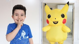 Yusuf Playing Hide and Seek with Pikachu | Komik Saklambaç!!