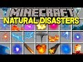Minecraft NATURAL DISASTER MOD! | SURVIVE TORNADOES, EARTHQUAKES, & MORE! | Modded Mini-Game