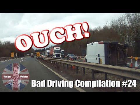 Bad Drivers UK Dash Cam Compilation #24