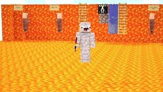 die ganze Base besteht aus Lava Blöcken.. Minecraft LUCKY BLOCK BEDWARS