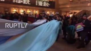 USA: Hundreds occupy Central Station, Bank of America to protest Dakota pipeline