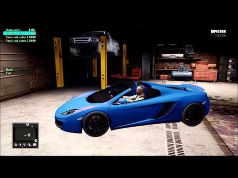 GTA 4 - CAR CUSTOMIZATION - GARAGE, EXTRAS, BULLETPROOF TIRES, COLOR MIXTURE