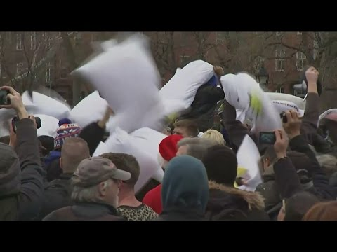 International Pillow Fight Day 2017 takes over cities across the globe