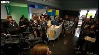 Conchita Wurst in the European Parliament 08.10.14 BBC report