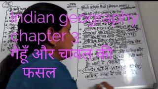 Indian geography chapter 3 भारतीय कृषि, गेहूँ  और   चावल  की फसल