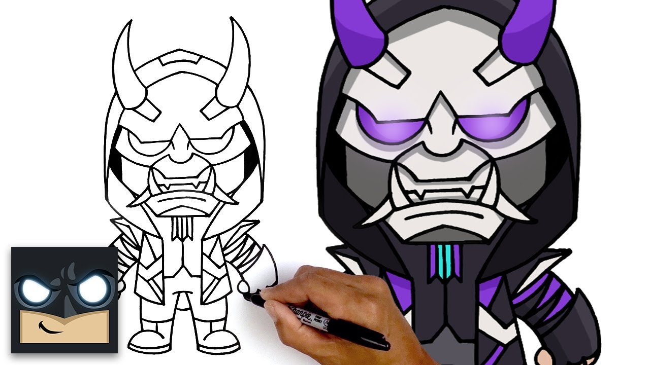 How To Draw Masked Fade | Fortnite Season 3