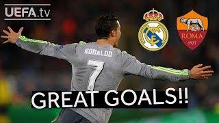 RONALDO, FIGO, TOTTI: Great REAL MADRID and ROMA Goals
