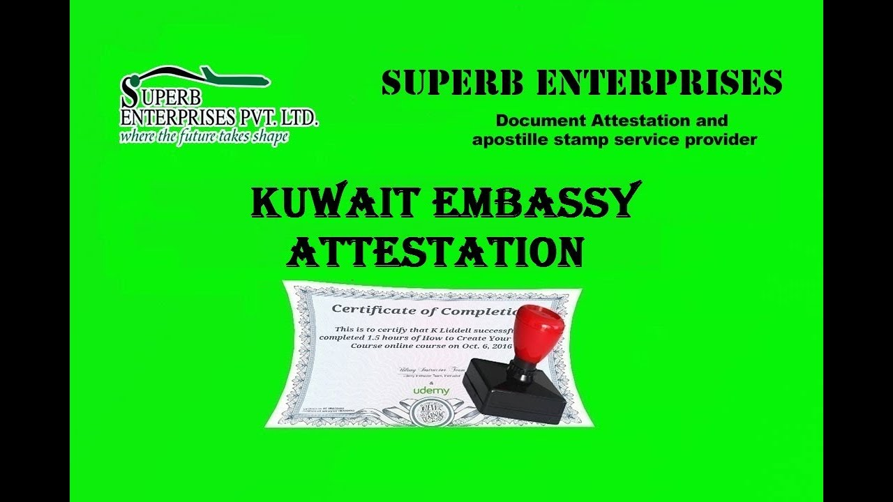 Kuwait Embassy Degree Certificate Attestation Services