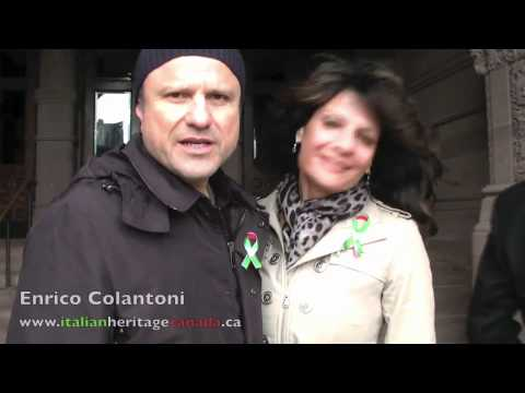 Actor Enrico Colantoni Wishing a Happy Italian Heritage Month 2012!