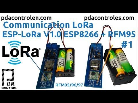 Communication LoRa ESP8266 & Radio RFM95 #1 - PDAControl