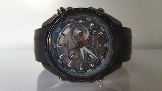 Огляд і параметри CASIO EDIFICE EQS-500C-1A1 (Review and setting)