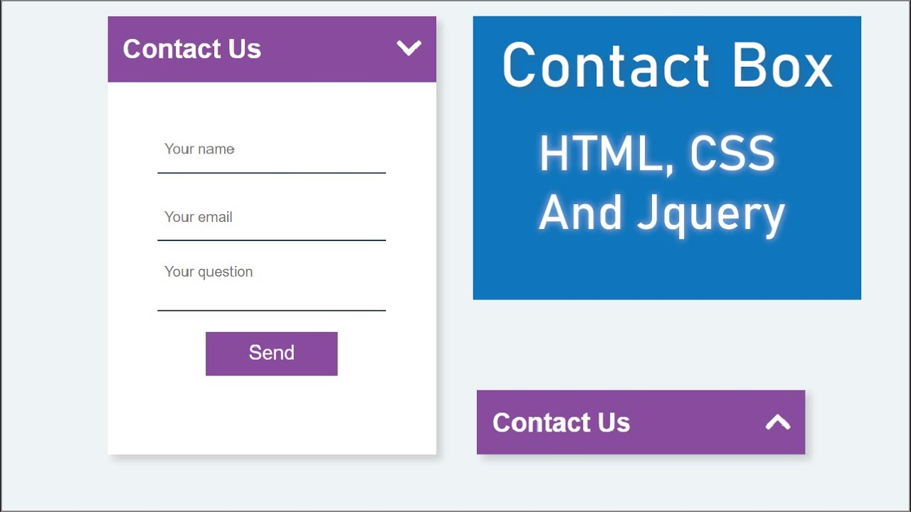 Awesome Contact Box With Cool Slide Effect Using HTML,CSS And Jquery