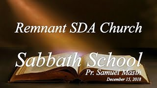 "Sabbath School Study: ""Unity in Worship"""