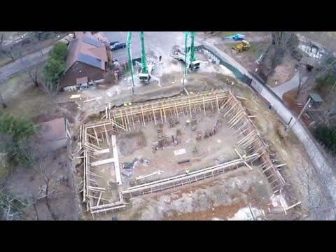 JOMI Corp Foundation Pour @ Southwick's Zoo 12-8-15 (aerial view)