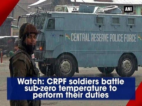Watch: CRPF soldiers