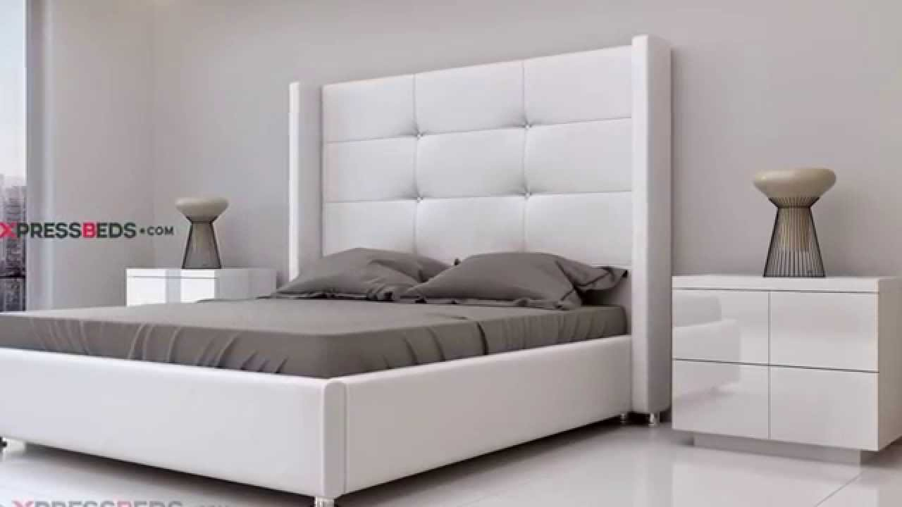 White modern victoria bed interior design in miami for Cheap modern furniture in miami