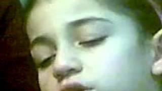 Девочка осетинка учит уроки и засыпает