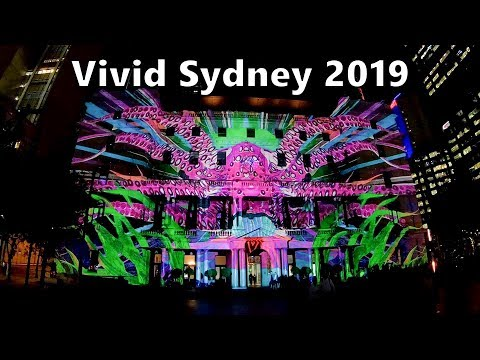Vivid Sydney 2019 - Customs House Animated Light Show - Under The Harbour