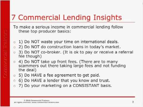 7 Commercial Lending Insights