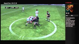Rugby Challenge 3 | Be a Pro game mode (LIVE ONLINE GAMEPLAY)
