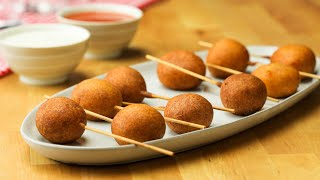 Buffalo Meatball Corn Dogs  Tasty