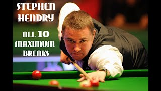 Stephen Hendry -All his 147´s(on tv) in 1 video-