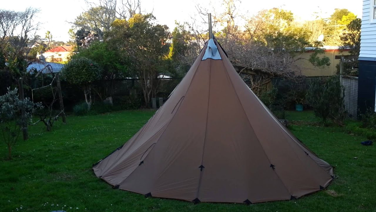 Tipi with stove jack & Tipi with stove jack - YouTube